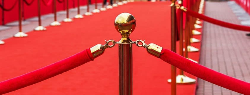 Roll out the red carpet for award recognition.